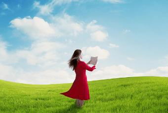 a woman read a book - Movie School Free