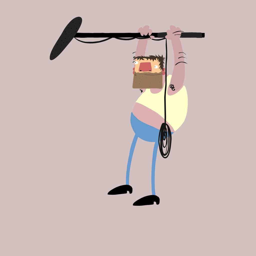A sound man cartoon - Movie School Free